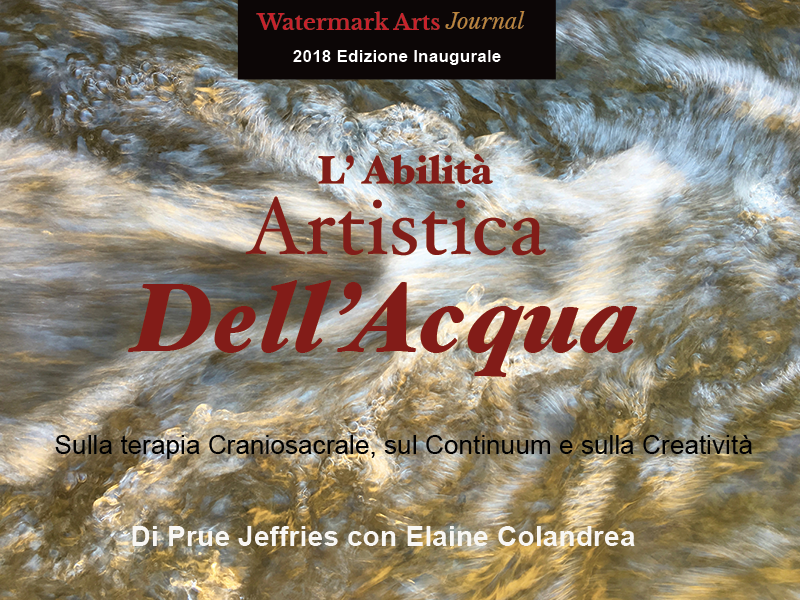Artistry of Water by Prue Jeffries with Elaine Colandrea ( Italian Translation)