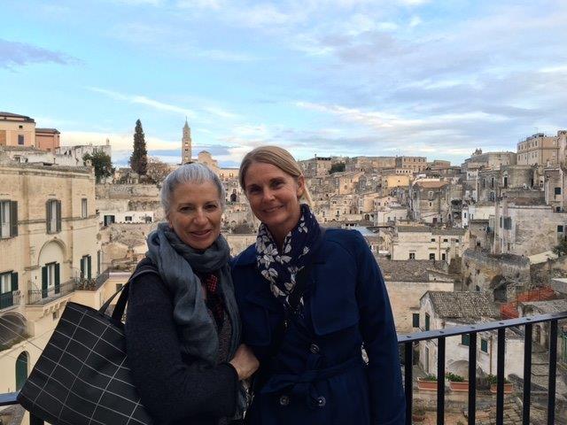 Photo: Elaine Colandrea & Prue Jeffries in Matera, Italy